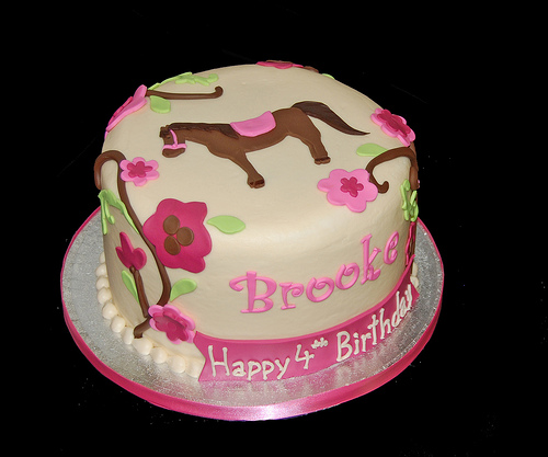 Girls Horse Birthday Cake