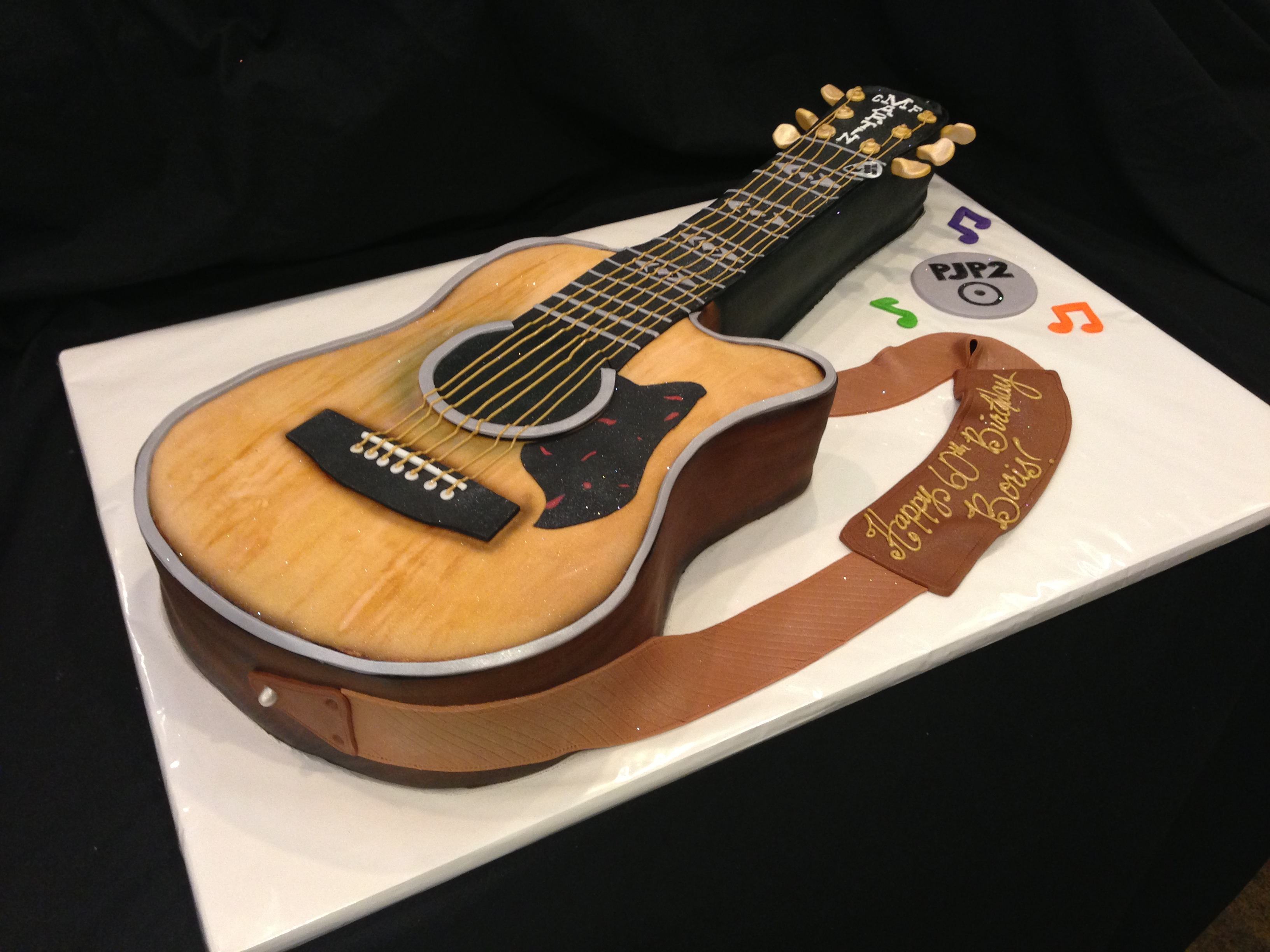 Terrific 12 Birthday Cakes With Guitars On Them Photo Guitar Birthday Funny Birthday Cards Online Barepcheapnameinfo
