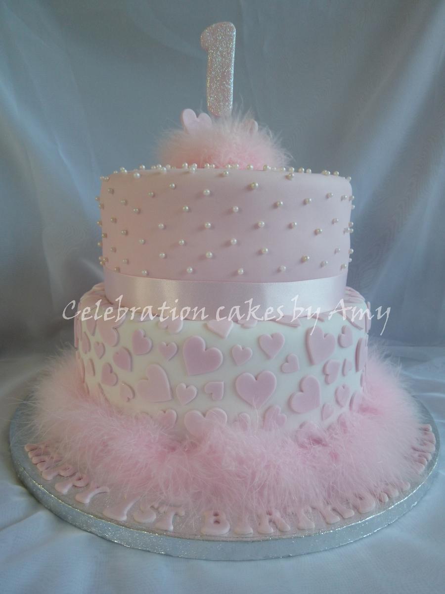 Phenomenal 8 Elegant Girls First Birthday Cakes Photo Little Girls 1St Personalised Birthday Cards Cominlily Jamesorg