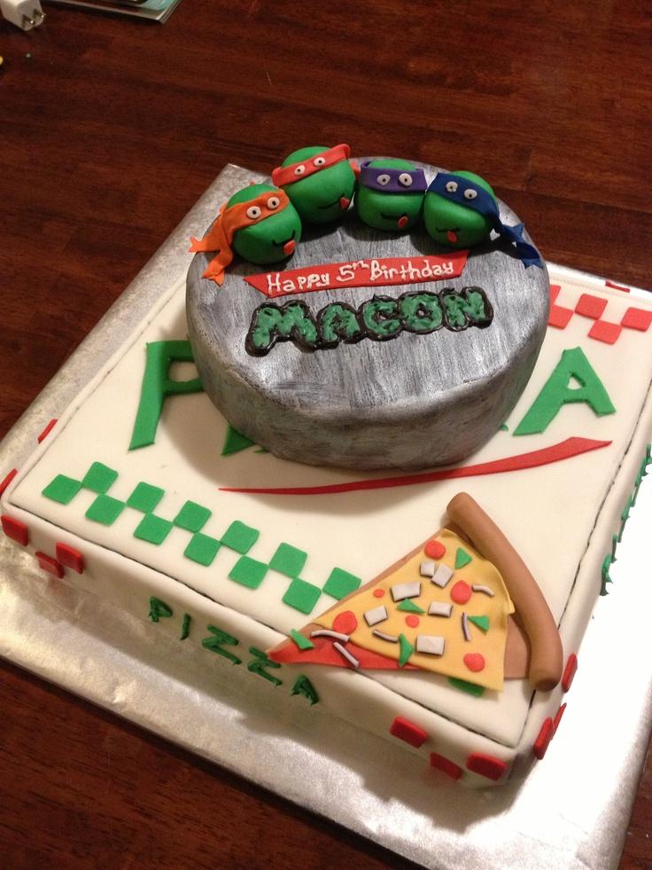 Sensational 8 Tmnt Cakes Pinterest Photo Ninja Turtles Cake Idea Ninja Funny Birthday Cards Online Aeocydamsfinfo
