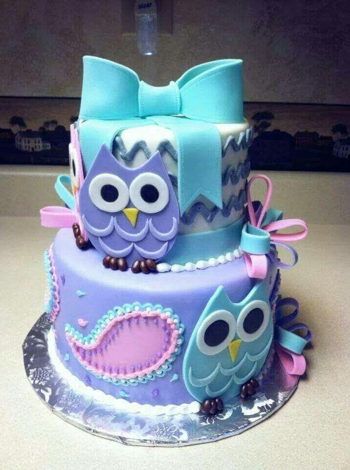 Sensational 8 Baby Girl Owl Birthday Cakes Photo Baby Girl Owl Birthday Cake Funny Birthday Cards Online Amentibdeldamsfinfo