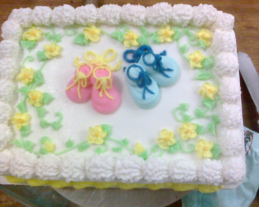 11 Quick Homemade Baby Shower Cakes Photo Simple Baby Shower Cake