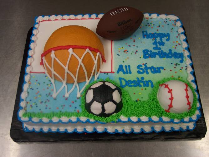 Groovy 11 Sport Themed Birthday Cakes For Toddlers Photo Sports Themed Funny Birthday Cards Online Bapapcheapnameinfo