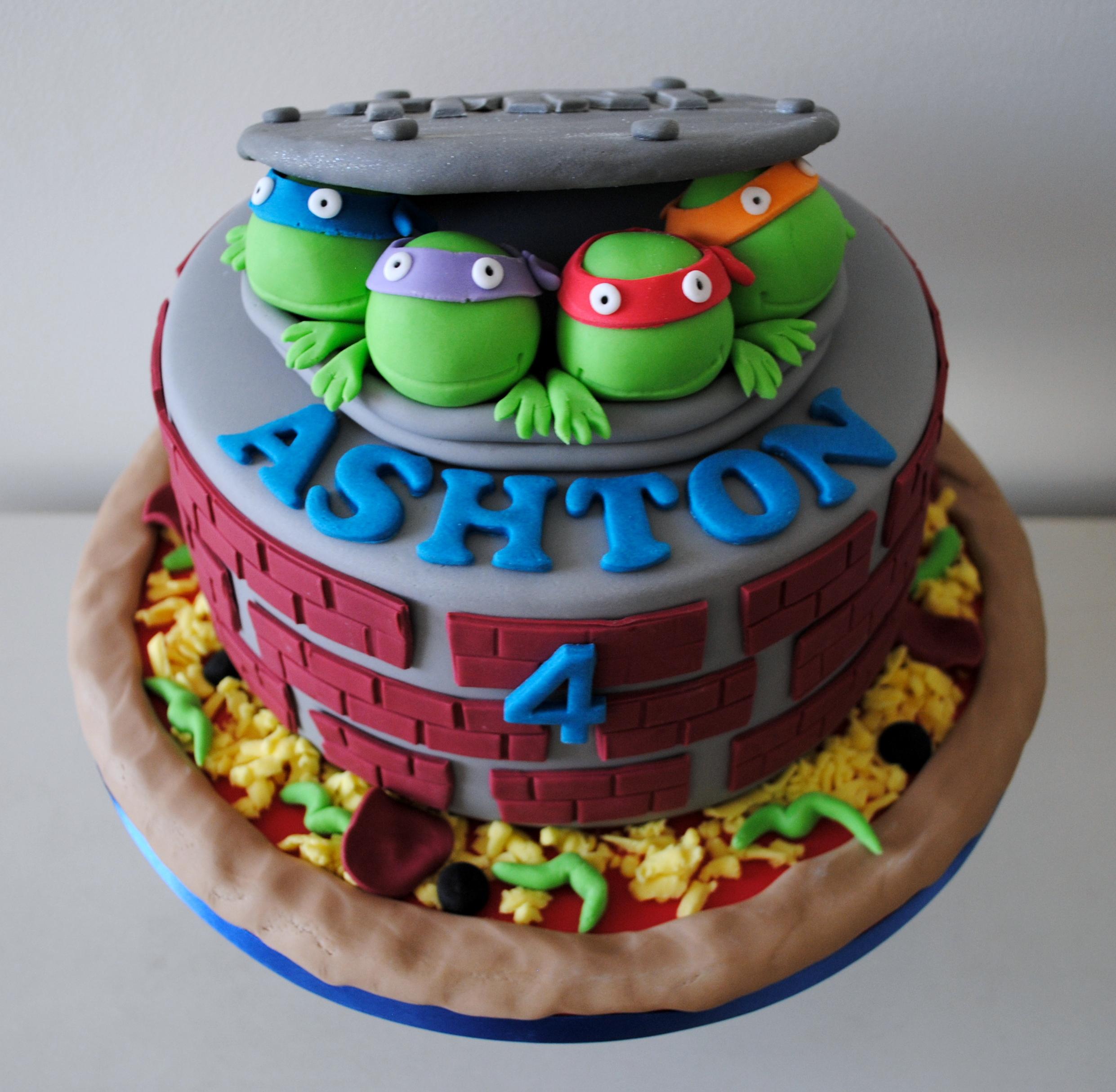 Stupendous 9 Birthday Cakes Teenage Mutant Turtles Photo Teenage Mutant Funny Birthday Cards Online Inifofree Goldxyz