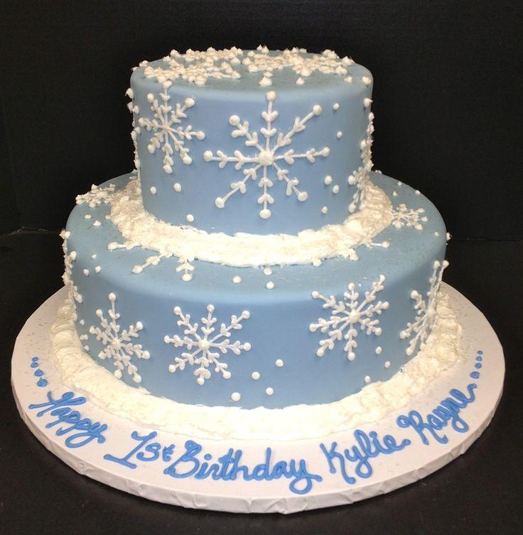 8 Winter Wonderland Sheet Cakes With Holiday Theme Photo Winter