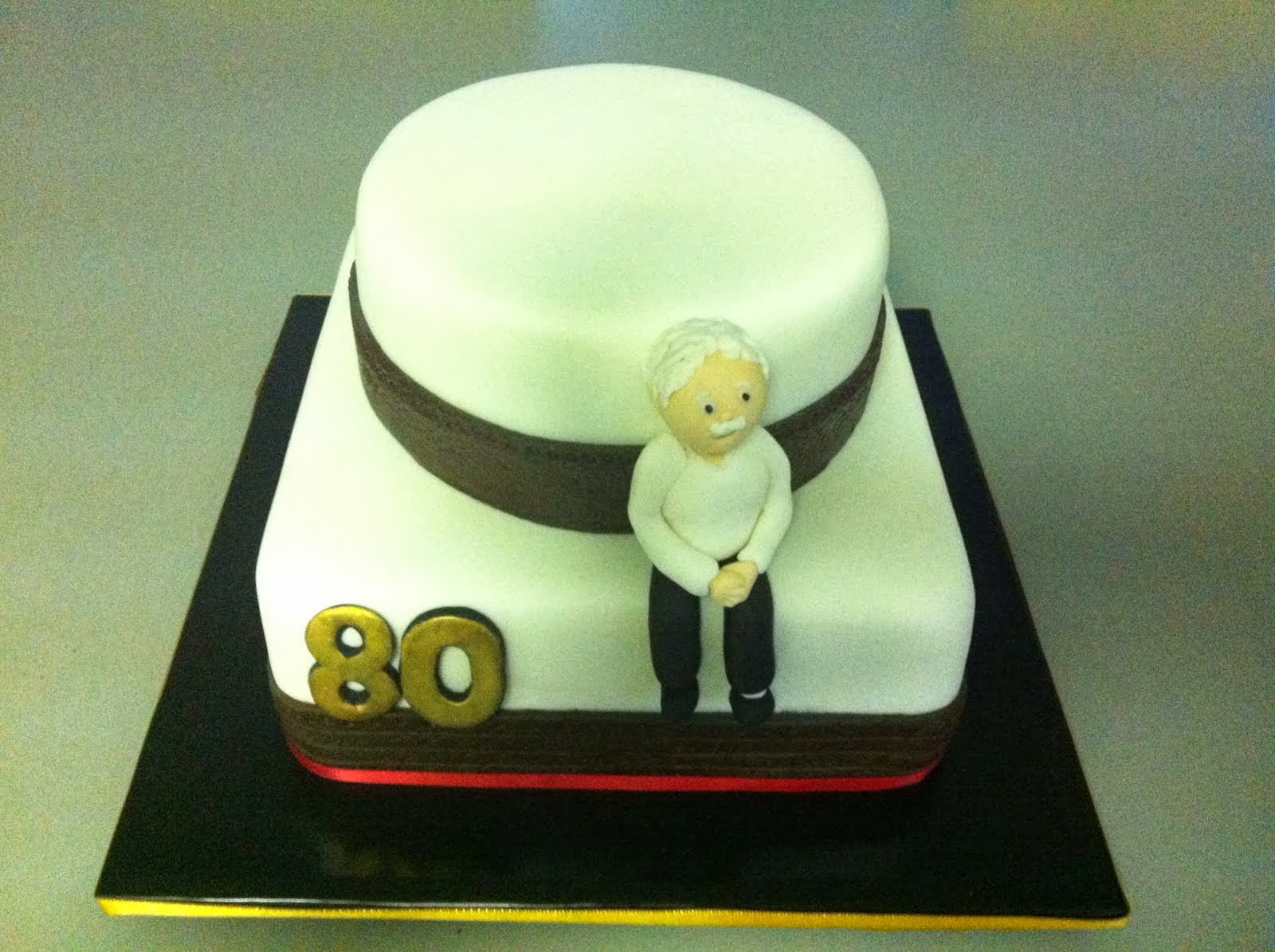 80 Years Birthday Cake