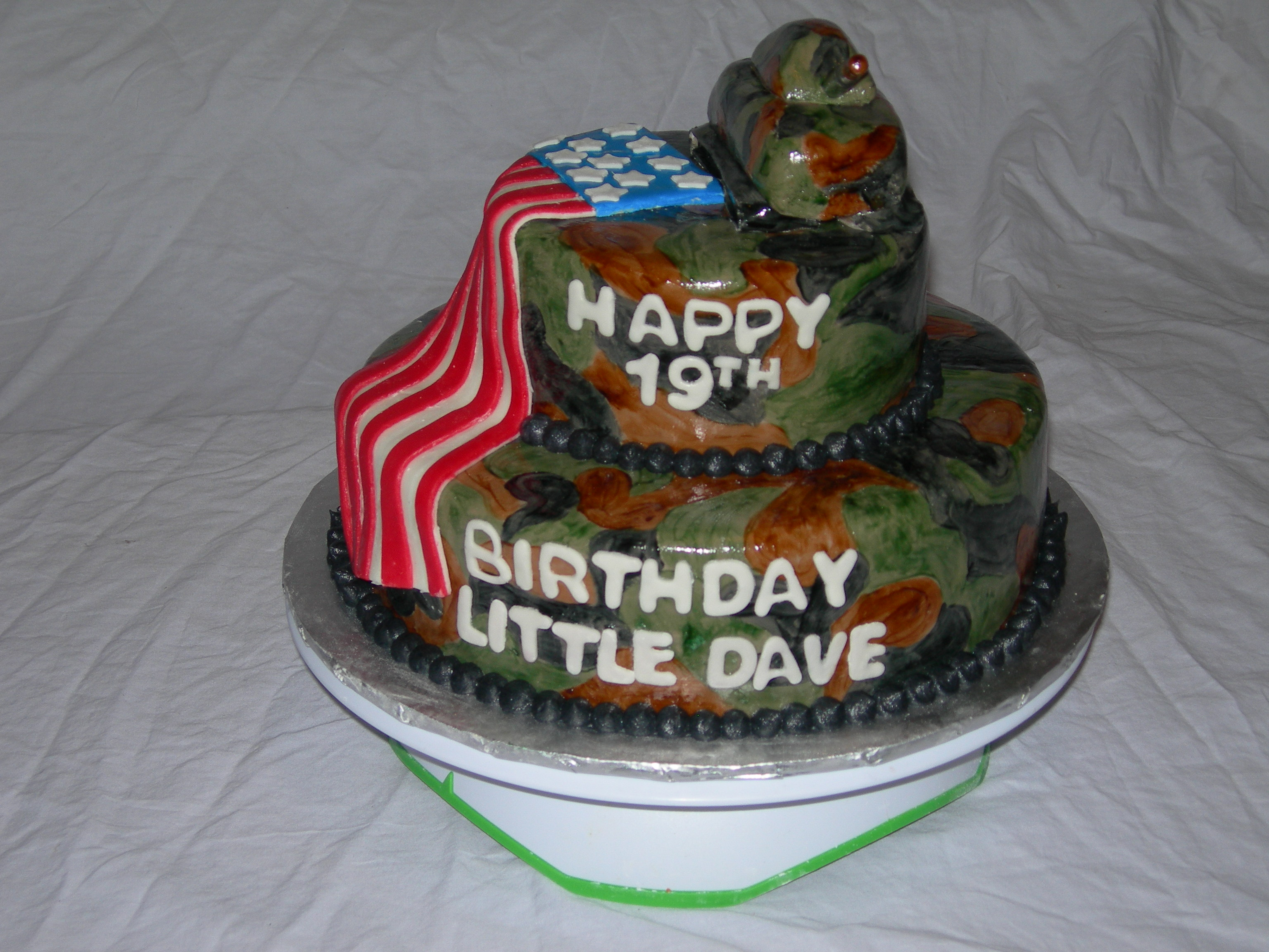 5 Army Themed Birthday Cakes Photo Army Theme Birthday Cake Army