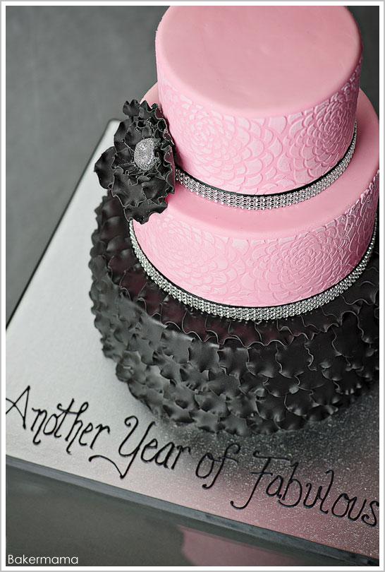12 Beautiful Birthday Cakes Pink Black Photo Awesome Birthday Cake