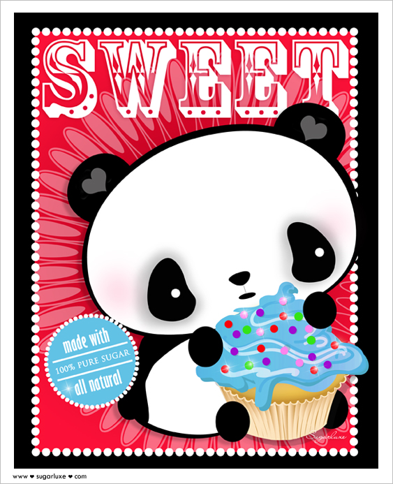4 Cute Cartoon Panda Cupcakes Photo Cute Cartoon Panda Cupcake