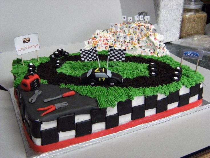 12 Dirt Track Race Car Cakes Photo Dirt Track Racing Birthday Cake