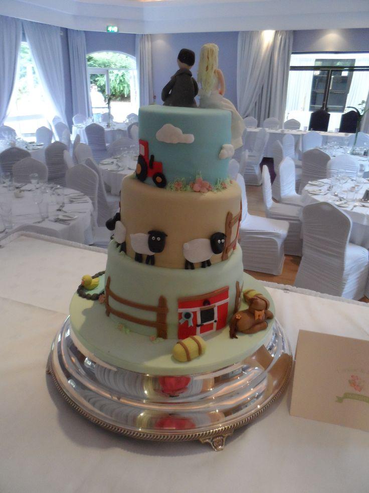 6 Farmer Themed Wedding Cakes Photo Farm Wedding Cake Farm Themed