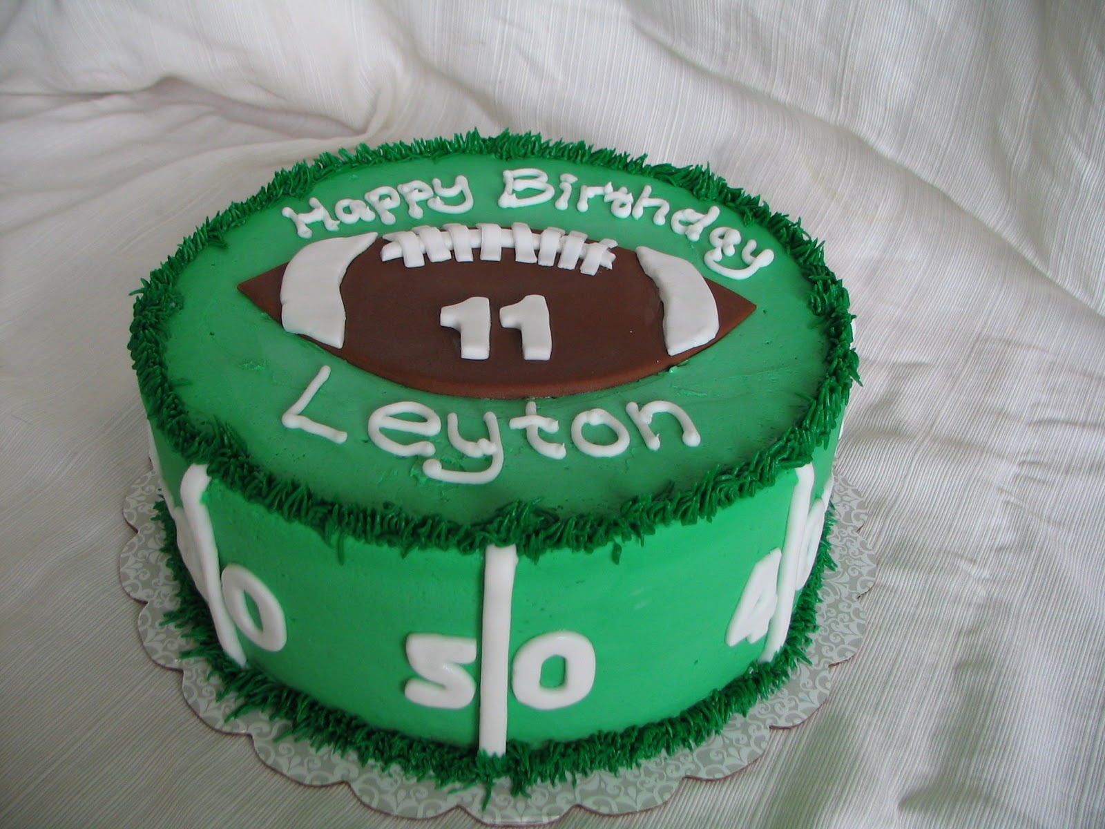 11 Round Football Cakes Designs Photo Football Field Cake Round