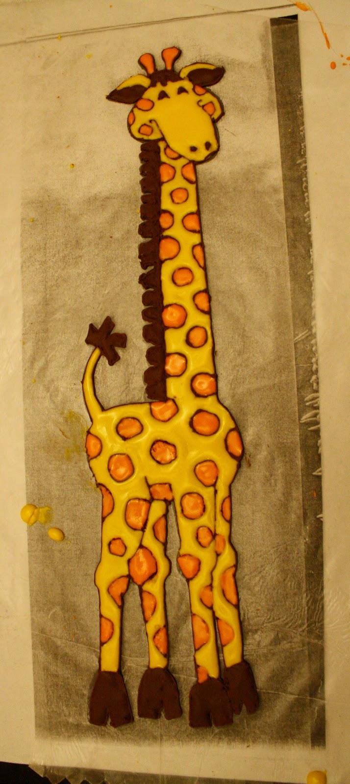 8 Giraffe Shaped Cakes Photo Giraffe Cake Template Giraffe