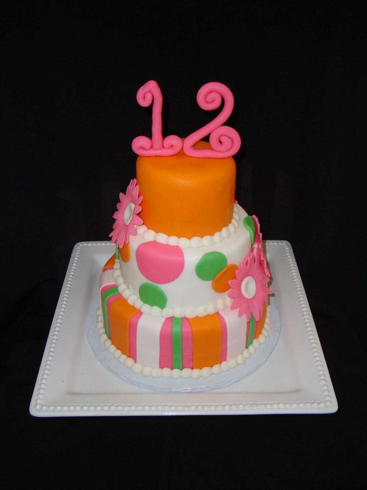 7 Birthday Cakes For Girls 12th Birthday Photo Happy 12th Birthday