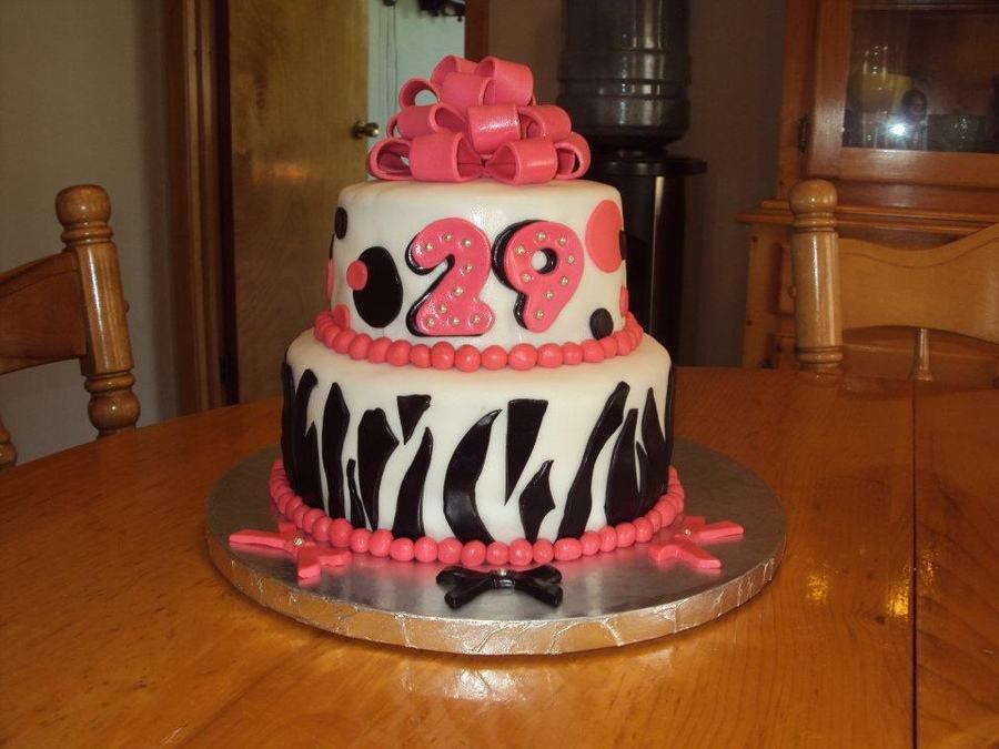 9 29 And 12 Months Birthday Cakes Photo 29th Birthday Cake Happy