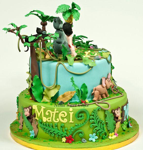 9 Girls Jungle Book Cakes Photo Jungle Book Birthday Cake Jungle
