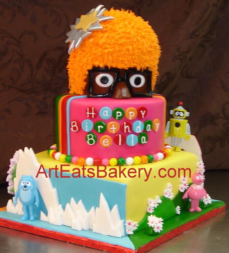 Strange 11 Customized Yo Gabba Gabba Birthday Cakes Photo Lance Birthday Funny Birthday Cards Online Overcheapnameinfo