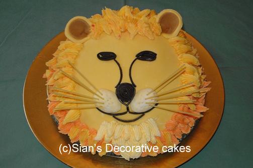 Enjoyable 10 Birthday Cakes Lion Head Photo Lion Birthday Cake Lion Funny Birthday Cards Online Overcheapnameinfo