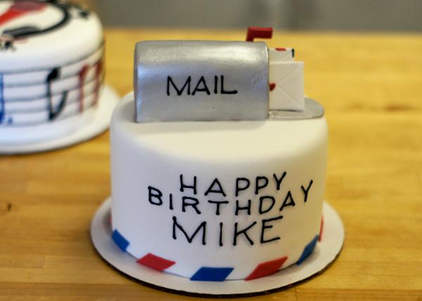 9 Mailbox Postal Retirement Cakes Photo Mailbox Cake Office