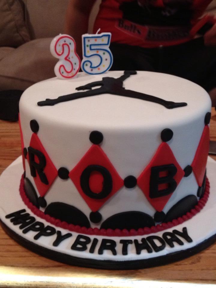 Incredible 5 Michael Jordan Themed Birthday Cakes Photo Jordan Birthday Funny Birthday Cards Online Elaedamsfinfo