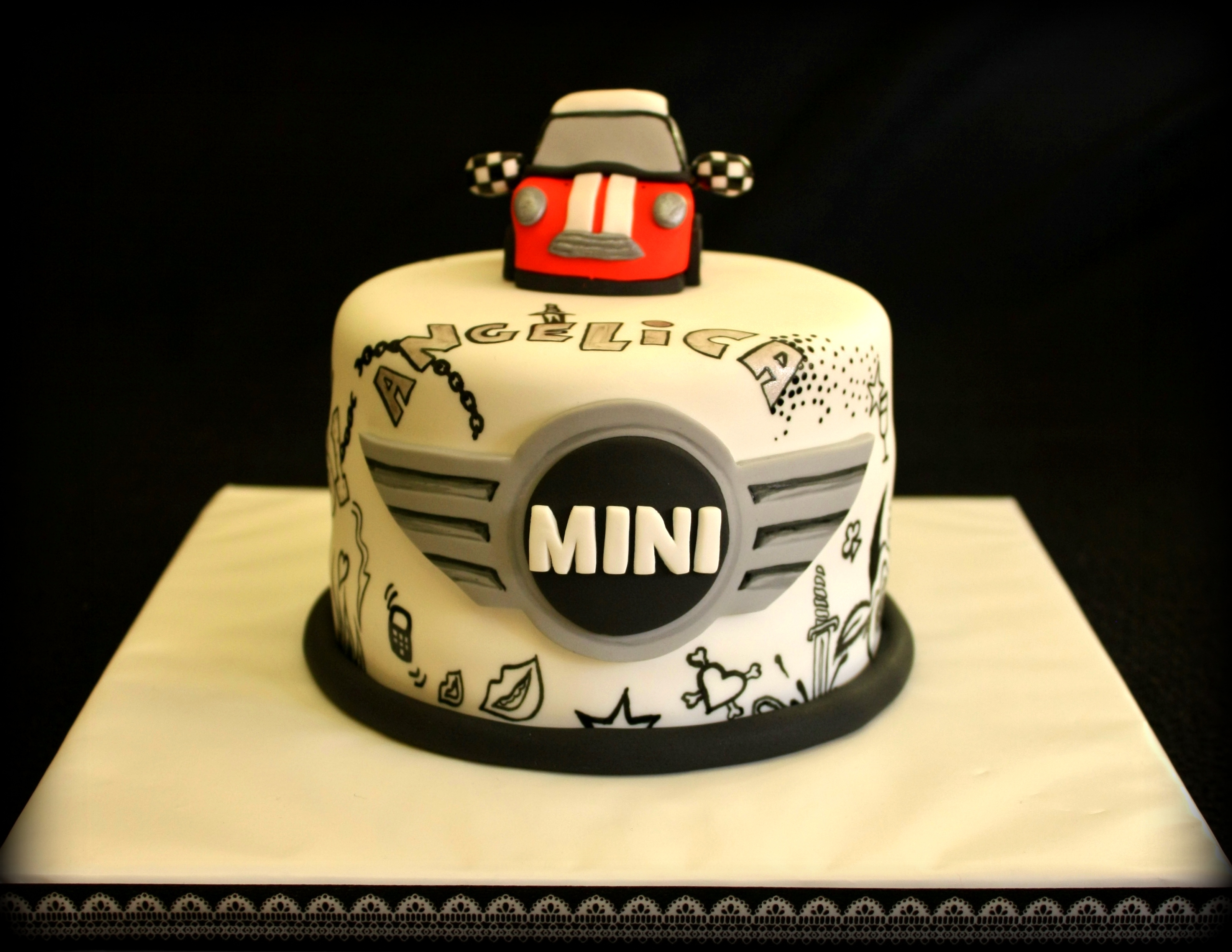 11 Mini Cooper Car Cakes Photo Mini Cooper Car Cake Mini Cooper