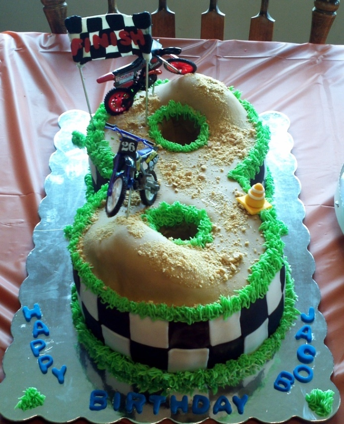 Enjoyable 9 Boy Birthday Cakes Number 8 Photo Number 8 Race Track Cake Funny Birthday Cards Online Eattedamsfinfo