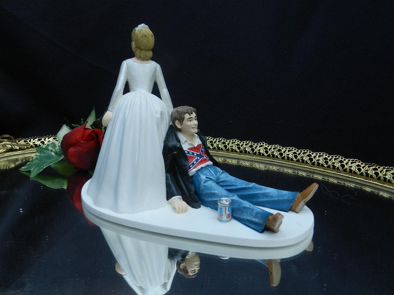Rebel Flag Wedding Cake Toppers