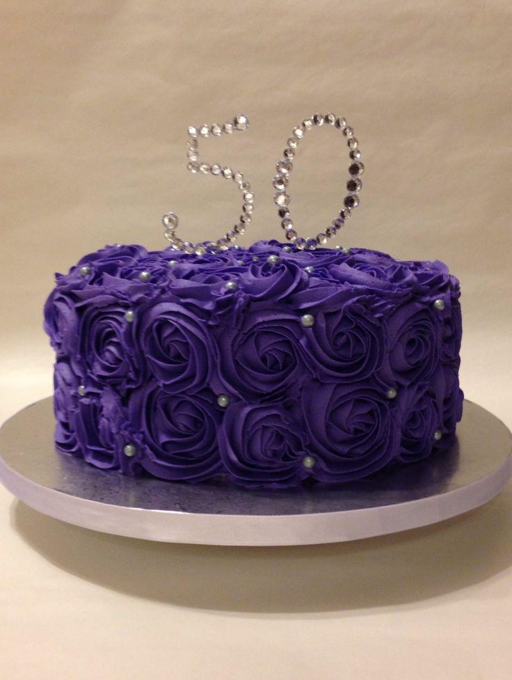 Rosette Birthday Cake 50th