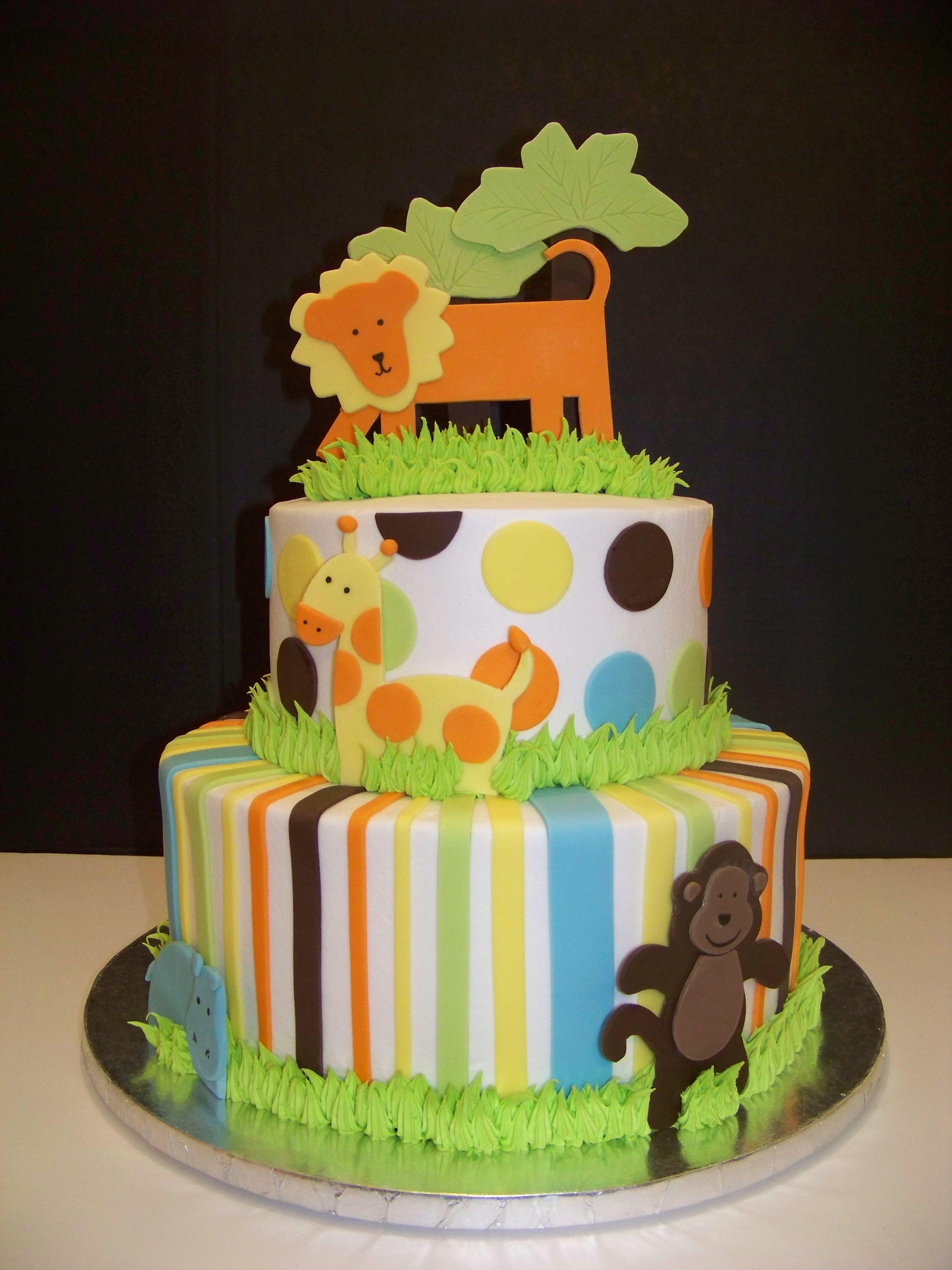 10 King Baby Shower Jungle Theme Cakes Photo Safari Baby Shower
