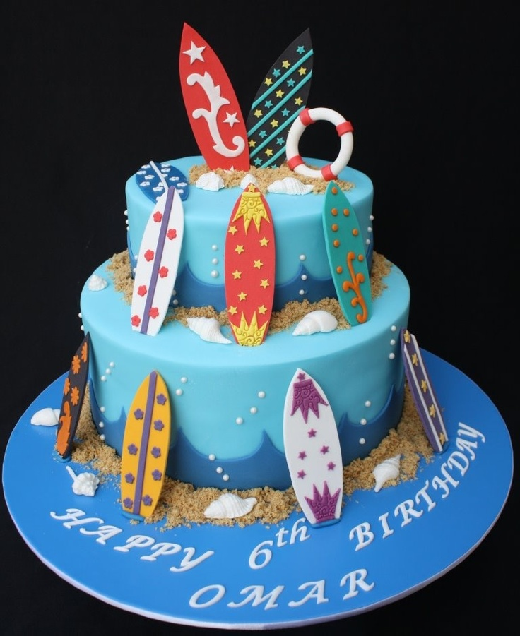 Miraculous 10 Surfs Up Crazy Birthday Cakes Photo Surfboard Cake Ideas Personalised Birthday Cards Petedlily Jamesorg