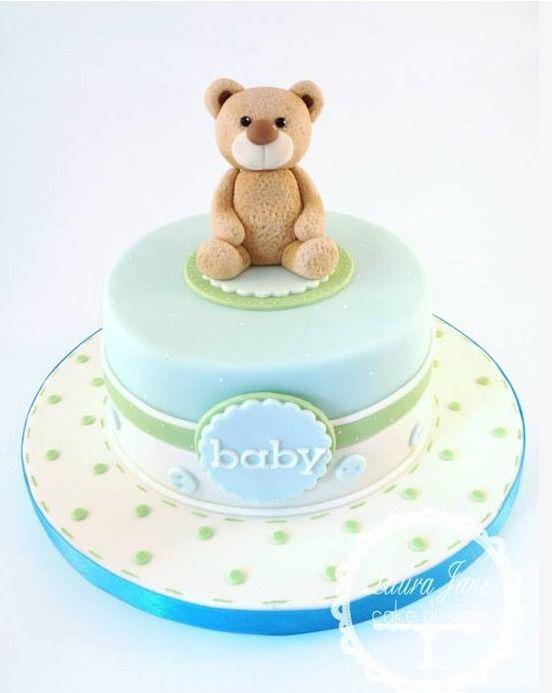 6 Teddy Bear Baby Shower Dream Day Cakes Photo Teddy Bear Baby