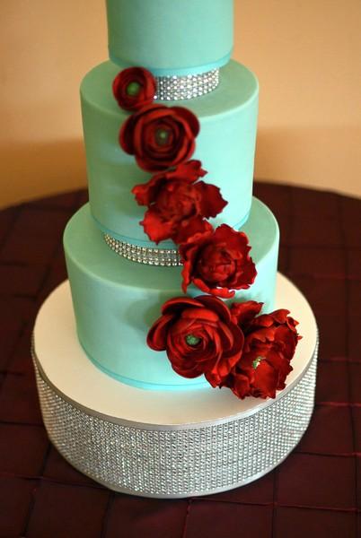 8 Blue And Red Wedding Cakes Photo Blue Beach Theme Wedding Cake