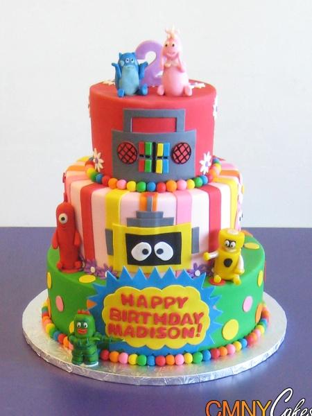 Remarkable 11 Customized Yo Gabba Gabba Birthday Cakes Photo Lance Birthday Funny Birthday Cards Online Elaedamsfinfo