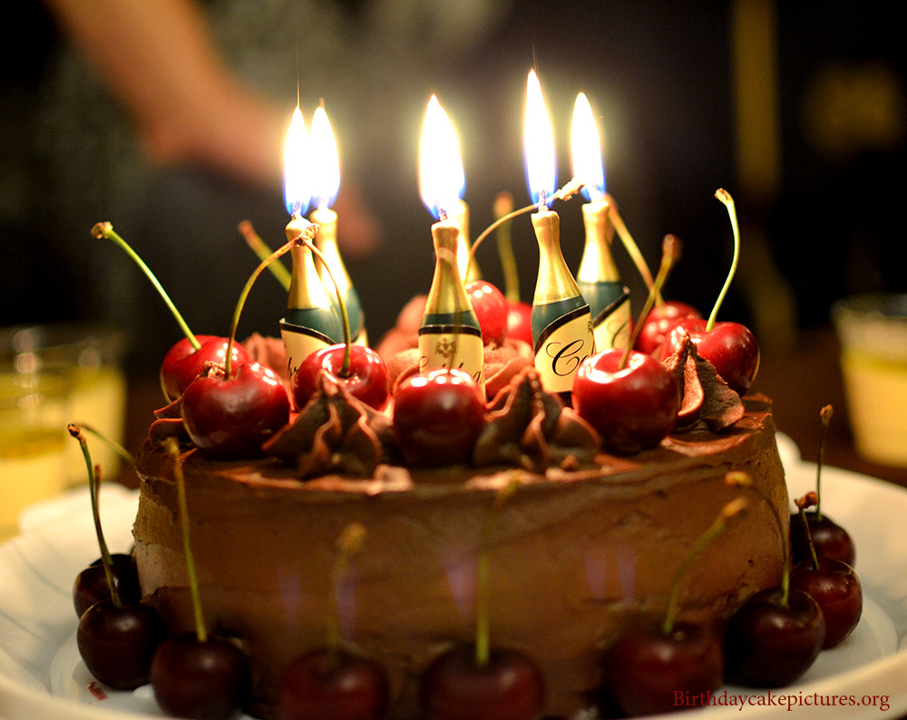 13 Happy Birthday Cakes For Men With Candles Photo Happy Birthday