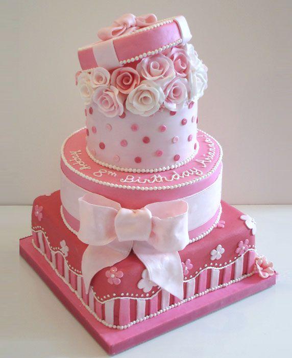 10 Big Beautiful Pink Cakes Photo Beautiful Pretty Birthday Cakes