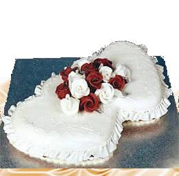 Double Heart Shaped Wedding Cake 5000 Simple Wedding Cakes