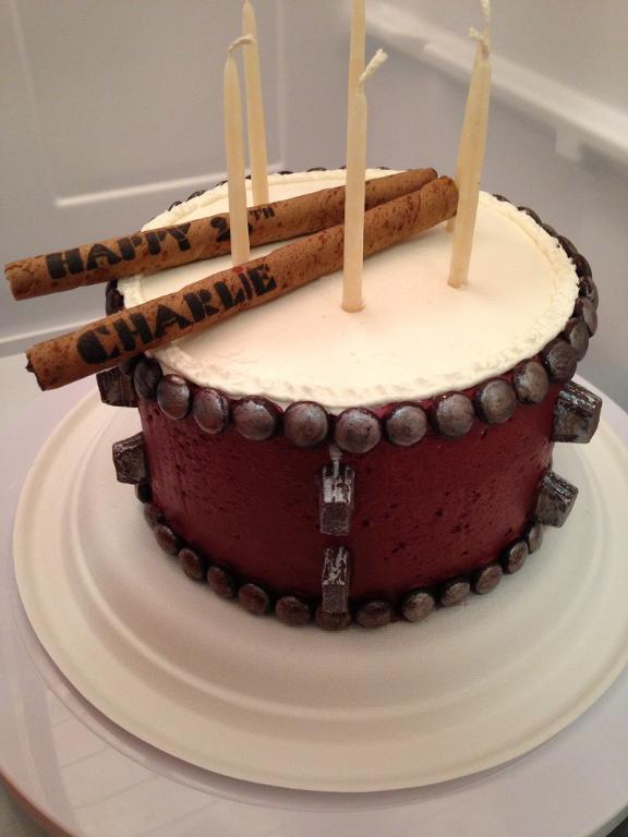 13 Cakes Decorated Like Drums Photo Happy Birthday Drum Cake Drum