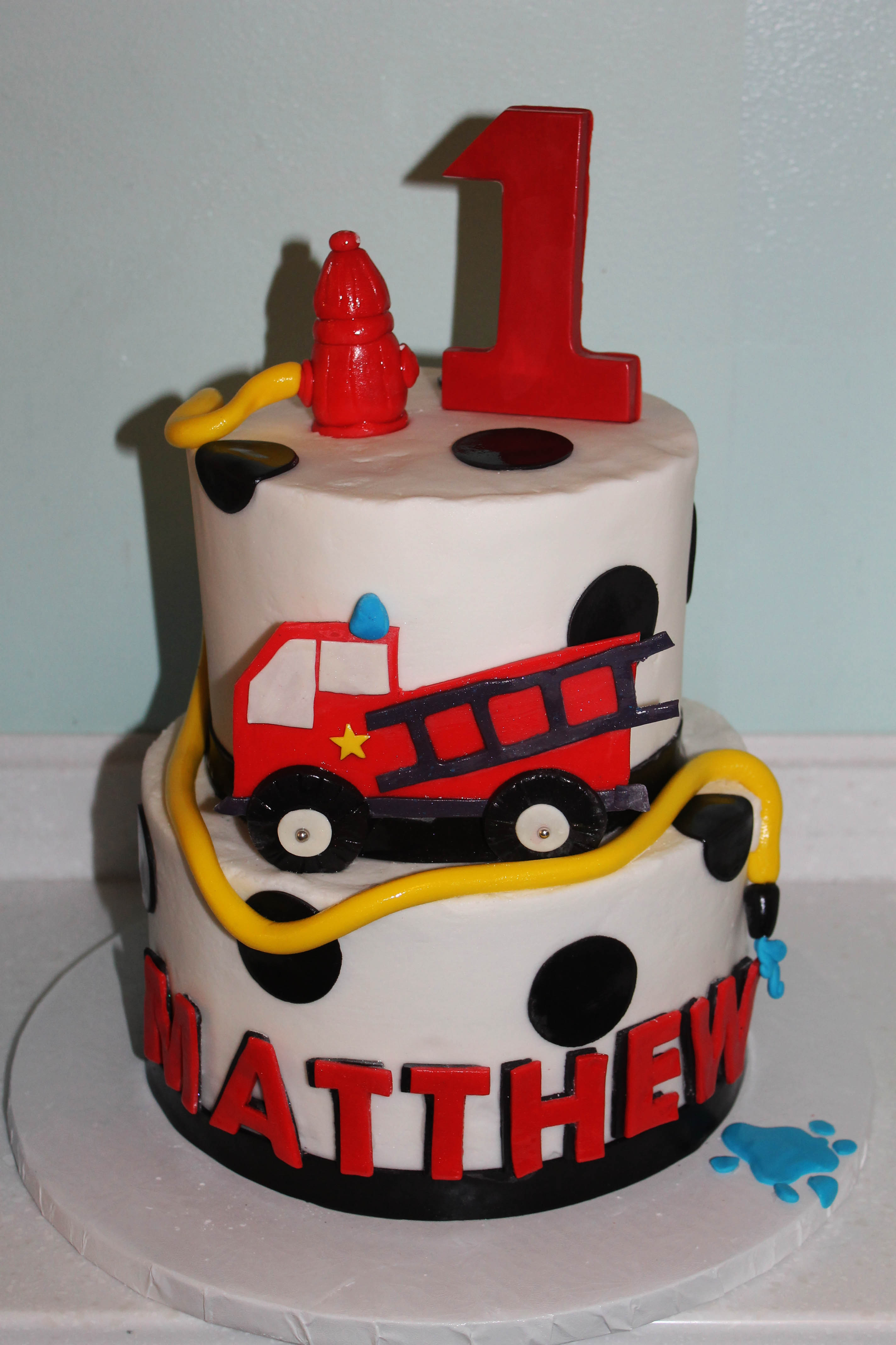 10 Fire Truck Birthday Cakes For Boys Photo Fire Truck Birthday
