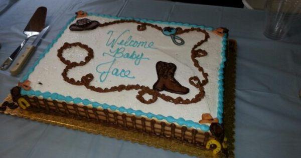 10 Western Theme Baby Shower Cakes Photo Western Baby Shower Cake