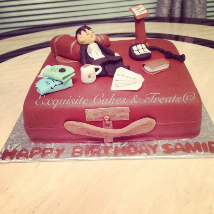 8 Lawyer Themed Birthday Cakes Photo
