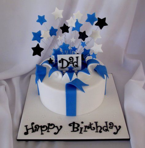 7 White Birthday Cakes For Men Photo Black And White 30th Birthday