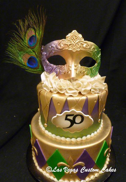 Cool 12 Mardi Gras Themed Birthday Cakes Photo Mardi Gras Theme Funny Birthday Cards Online Alyptdamsfinfo