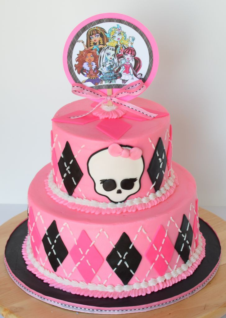 Wondrous 7 Monster High Birthday Cakes With Name On It 10 Kia Photo Funny Birthday Cards Online Fluifree Goldxyz