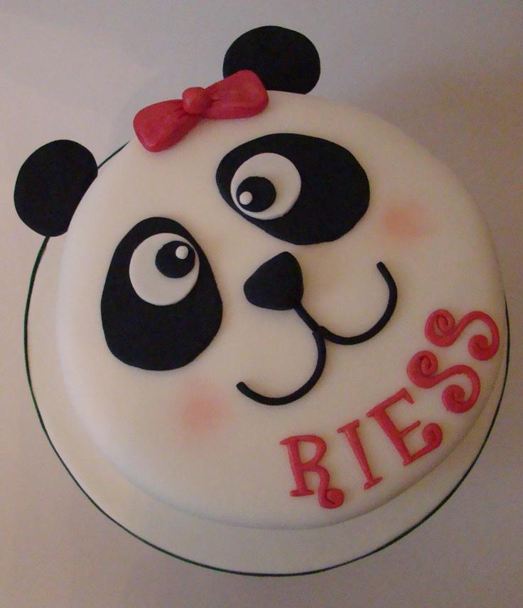 11 Pandas Birthday Cakes Quarter Wth Photo Panda Birthday Cake