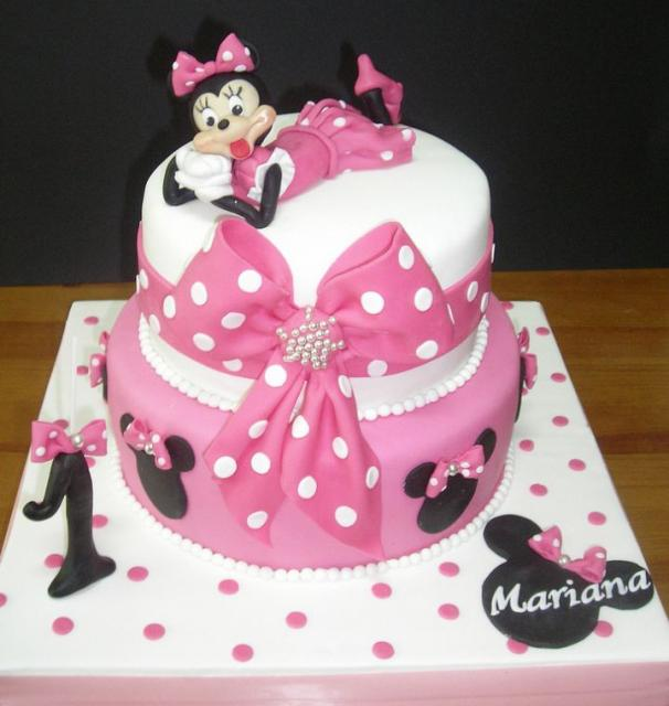 Cool 11 Red Minnie Mouse Girl Birthday Cakes Photo Pink Minnie Mouse Funny Birthday Cards Online Inifofree Goldxyz