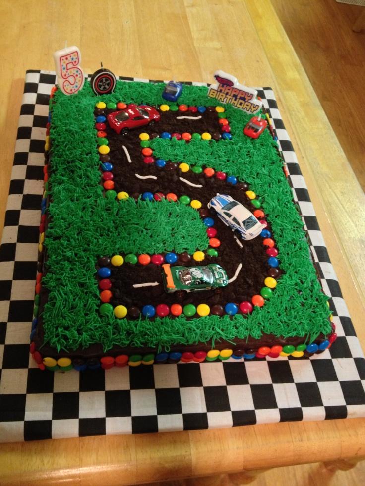 10 5 Race Car Birthday Cakes Photo Race Car Birthday Cake Idea