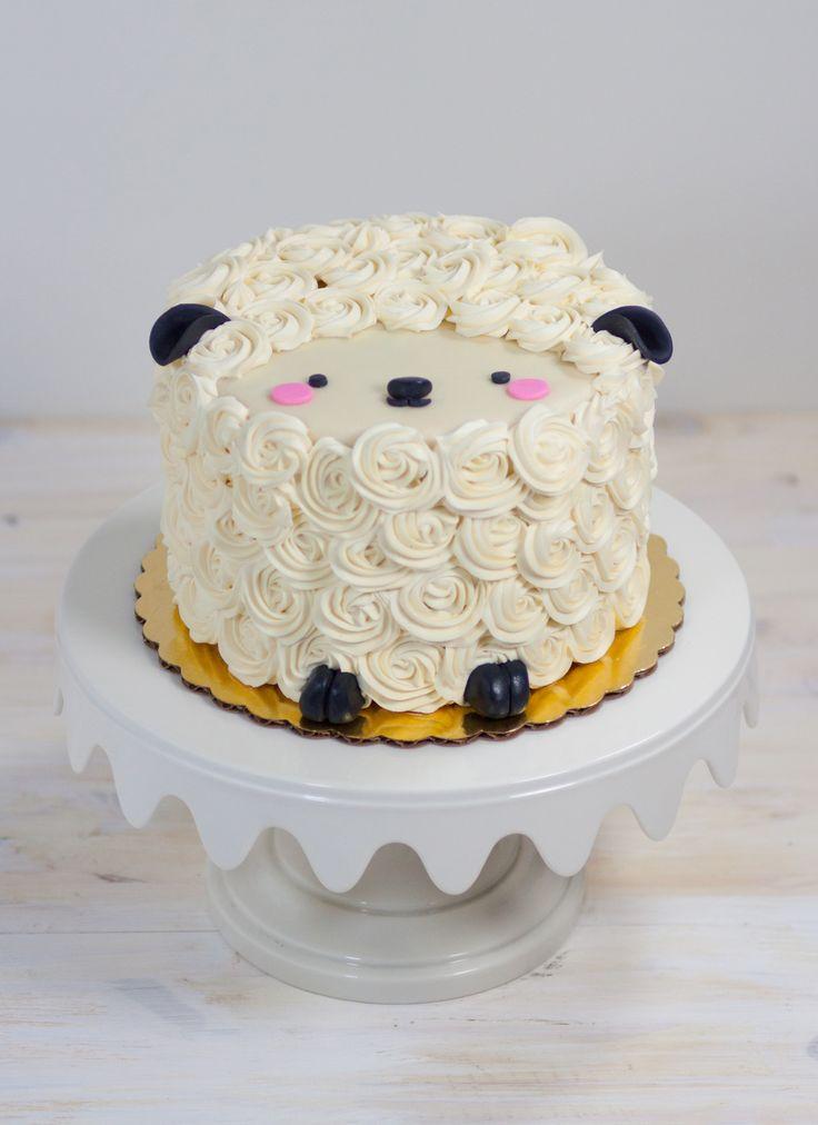 10 Lamb Cakes Designs Photo Lamb Baby Shower Cake Lamb Baby