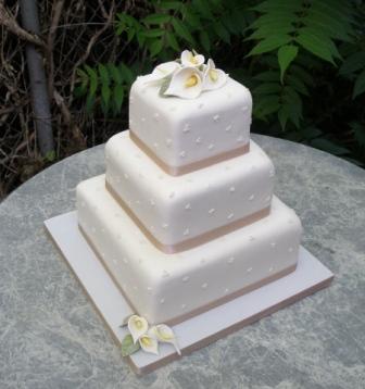 11 Simple Square Cakes Photo - Square Wedding Cake White Pink ...
