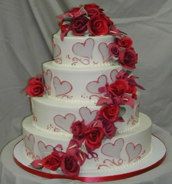 11 Valentine Wedding Cakes Designs Photo Vintage Wedding Cake