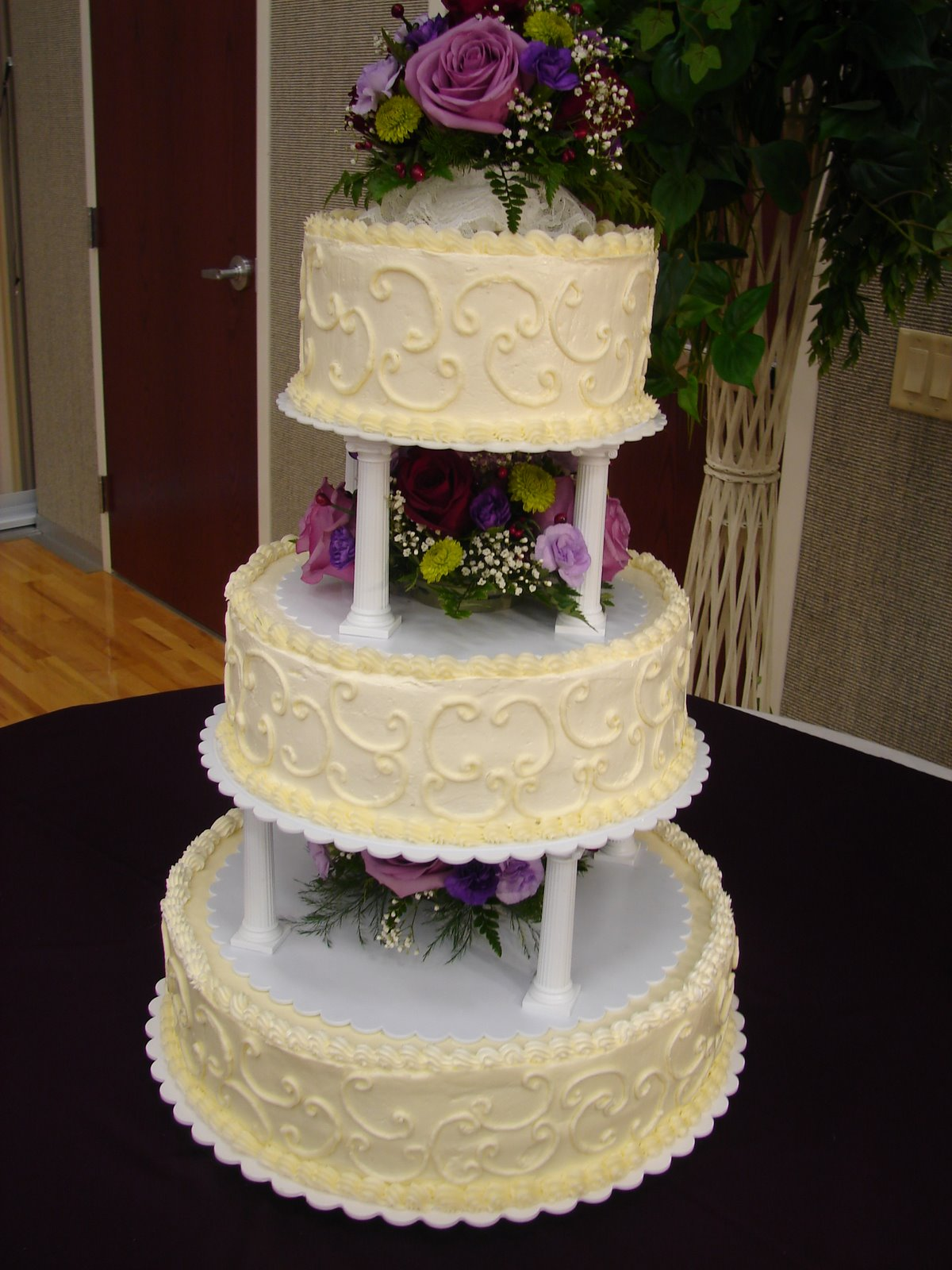 7 3 Tier Wedding Cakes With Scrolling Photo Walmart 2 Tier